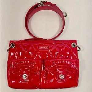 Coach Poppy Liquid Gloss Patent Leather Crossbody